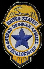 United States Bureau of Indian Affairs Special Police Badge Patch S-11