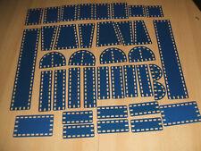 Märklin Metallbaukasten verschiedene Bleche blau/silber sehr gut erhalten