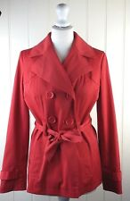 ladies size 10 red summer mac trench coat Jacket by George clothing (B1) *