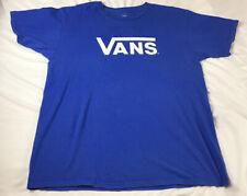 VANS Blue T-shirt Size Large B-385