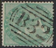 GB Used Abroad in BUENOS AYRES ARGENTINA B32 1856 1/- green. Superb strike!
