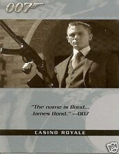 James Bond The Complete Quotable Casino 6 card set