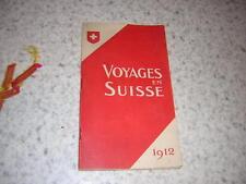 1912.guide chemins de fer en Suisse