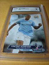 VINCENT KOMPANY MANCHESTER 2013 TOPPS BARCLAYS PREMIER ARSENAL FOWARD GRADED 9
