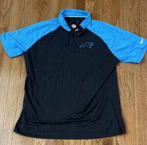 Men's Carolina Panthers Nike Fan Gear Raglan Tri-Blend Polo Large NWT $70
