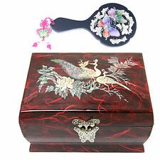 Antique Jewelry Boxes Music Organizer  Women Gift item Mother Of Pearl L5301