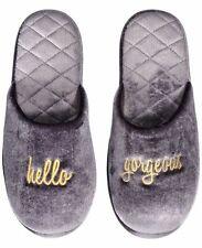 INC International Concepts HELLO GORGEOUS slide women's slippers XL(11-12) Gray