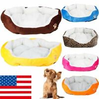 Pet Dog Cat Bed Puppy Cushion House Soft Warm Kennel Mat Blanket S M US