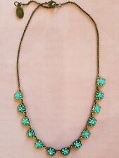 New Michal Negrin Israeli Turquoise Blue Floral Necklace Romantic Handmade