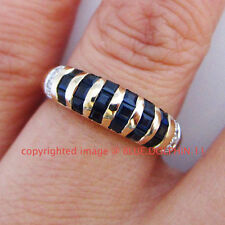 Diamond Not Enhanced Sapphire Yellow Gold Fine Rings