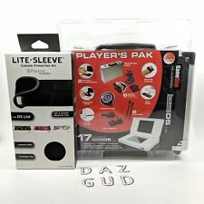Nintendo DS Lite Accessory Bundle Starter Kit Lite Aluminum Case New
