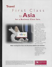 NORTHWEST AIRLINES TRAVEL FIRST CLASS TO ASIA FOR BUSINESS CLASS FARE 1999 AD