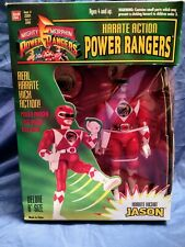 "8"" Karate Action Jason Red Power Rangers Morphin + Logo Badge New 1994 Amricons"