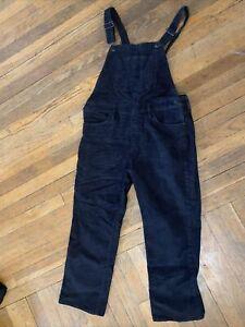Lucky Brand Sz M Overalls Corduroy Black 7w14768