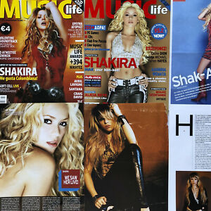SHAKIRA Magazine Clippings and Posters, HUGE European lot, early 2000s