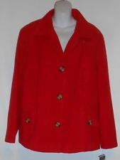 R-Q-T Woman Plus Size Fleece Winter Jacket Scottish Red 24W NWT