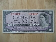 Canadian 1954 $10 bank note