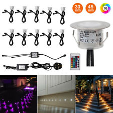 10X RGB LED Decking Lights Colour Changing Kitchen Garden Plinth Recessed Lamps