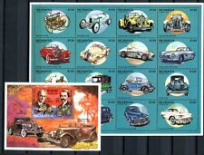 Nicaragua 1994 automóviles coches Oldtimer 3309-3324 + bloque 211 ** mnh