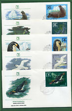 Russia 5 First Day Covers , Sc 4679 - 4683 , Fauna of the Antarctic, 1978