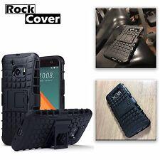 HTC One M9  Hybrid Rigid Armour Multi Layer Tech Rugged Survivor Rock Black