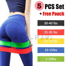 Resistance Bands Loop Set Strength Fitness Gym Exercise Yoga Workout Pull Up