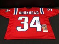 Rex Burkhead Signed Patriots Jersey (JSA COA) Nebraska Cornhusker ...