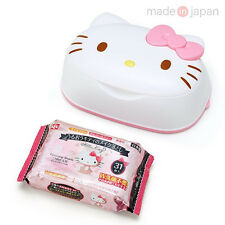 Hello Kitty Makeup Remover Cleansing Wet Wipes with Case Refill Sanrio Japan