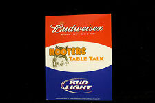 Hooters Uniform Budweiser beer Waitress Table Remind Card limited promo card