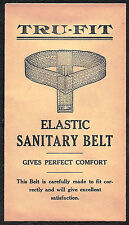 Antique 1900's Paper Envelope for TRU-FIT ELASTIC SANITARY BELT - Logansport, IN