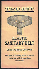 TRU-FIT ELASTIC SANITARY BELT Antique 1900's Paper Envelope - Logansport, IN