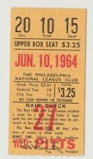 "PHILADELPHIA PHILLIES ""PHOLD"" TICKET STUB VS. PGH. PIRATES 6/10/64 CLEMENTE"