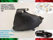 CUFFIA CAMBIO ALFA ROMEO 159 ORIGINALE IN PELLE CON AGGANCI GEAR BOOT NERA