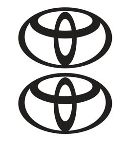 TOYOTA LOGO DECAL, VINYL STICKER, (2 items) FREE SHIPPING