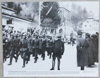 Rare Vintage 11x14 Photograph German Soldiers Marching into Austria, March 1938