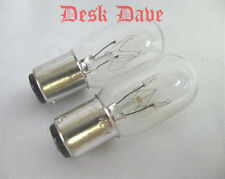 2 Brand New SINGER Featherweight 221 Replacement Light Bulbs, Clear 120V~15W