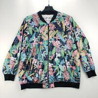 NEW Calvin Klein Performance Women's Plus Size Printed Bomber Jacket Top 2X TEDO
