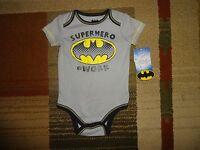 Batman Superhero Baby Infant Boy Cotton Blend Rompers Jumpsuit Bodysuit  6/9 M