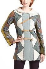 Anthropologie Charlie Robin Harlequin Patchwork Sweater coat XS GUC