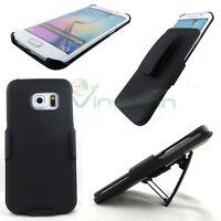 Cover Sliding Stand NERA per Samsung Galaxy S6 Edge G925F clip cintura custodia