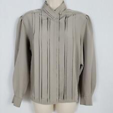 Yves St Clair Petites Button Shirt Women's Size 12P Brown Long Sleeve Blouse