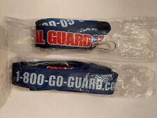 Lot 2 Army National Guard Lanyard Keychain www.1-800-Go-Guard.com - New