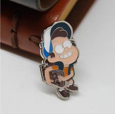 Disney Gravity Falls Dipper Pines Q Cartoon Badge Pin Metal Brooth Cosplay Gift