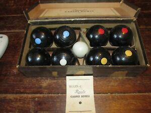 Vintage B&A Carpet Bowls Indoor Game Made in England BAKELITE VINTAGE