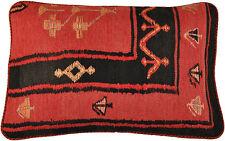 Kelim Coussin Protection de 40 x 60 cm DEUX CÔTÉS Germe 100% laine à la main