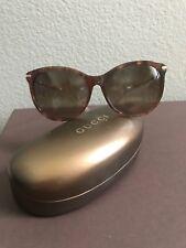 Gucci Sunglasses Round Cat Eye Tortoiseshell with Gold Bamboo