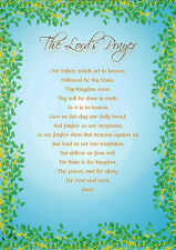 CHRISTIAN POSTER ... THE LORD'S PRAYER, OUR FATHER WHICH ART IN HEAVEN  A4 size