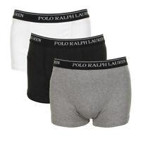 Polo Ralph Lauren Cotton Boxer Briefs Trunk Classic Fit 3 Pack Grey Black White