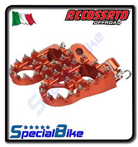 PEDANE ACCOSSATO ARANCIO ERGAL MAGGIORATE OFFROAD PER KTM 250 SX F 2006 > 2015