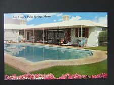 Palm Springs California CA Bob Hope Home Swimming Pool Postcard 1950s